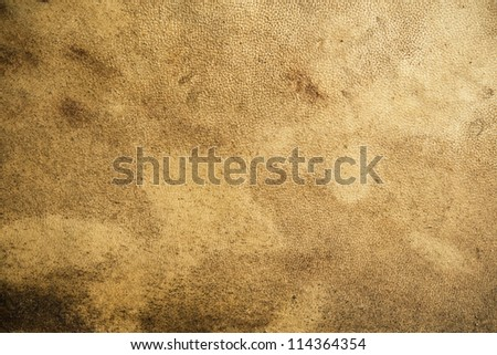 Grainy texture of old leather - stock photo