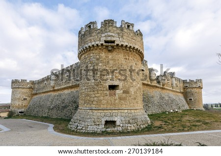 Grajal de Campos Castle , Leon, Spain - stock photo