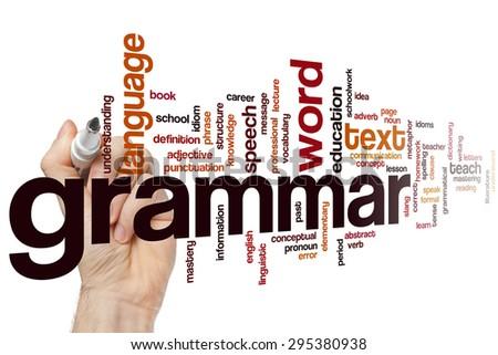 Grammar concept word cloud background - stock photo