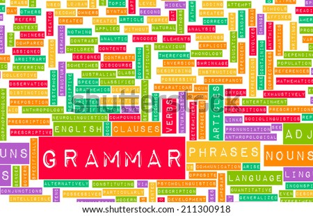 Grammar Learning Concept and Better English Art - stock photo