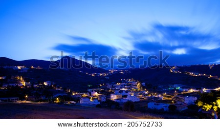 Gran Canaria, village of Marzagan, evening light,