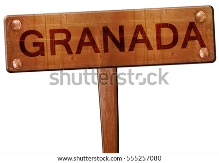 Granada road sign, 3D rendering