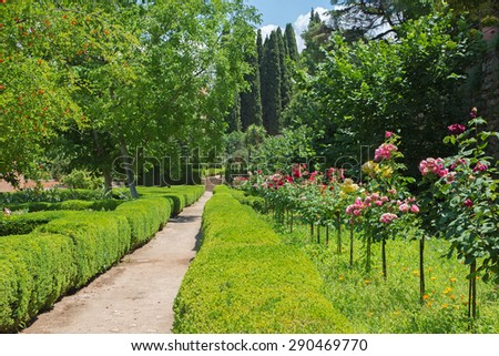 Granada - The Gardens of Alhambra palace