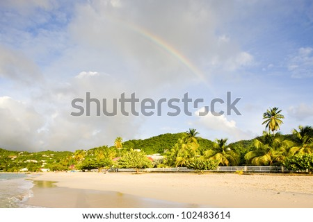 Grand Anse Bay, Grenada - stock photo