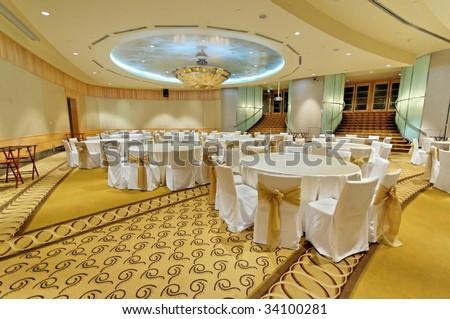 Grand ballroom - stock photo