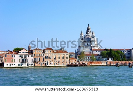 Grand Canal and Basilica, Venice, Italy  - stock photo