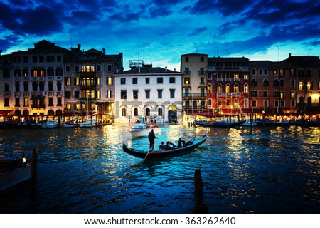 stock photo grand canal in sunset time venice italy 363262640 - Каталог — Фотообои «Венеция»