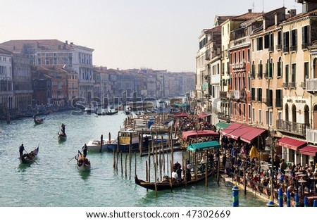 Grand Canal, Venice (view from Rialto bridge)