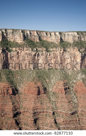 Grand Canyon cliff face - stock photo
