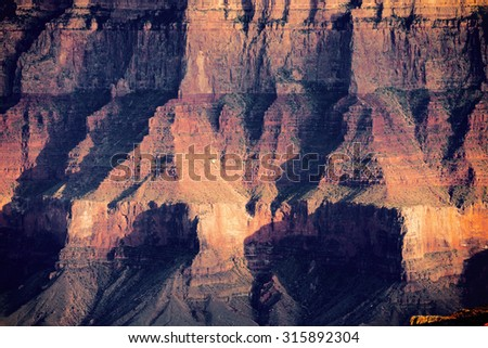 Grand Canyon Cliff Face.