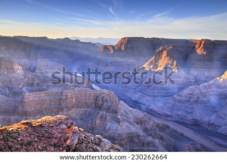 Grand Canyon - Guano Point. Hualapai Indian reservation - stock photo
