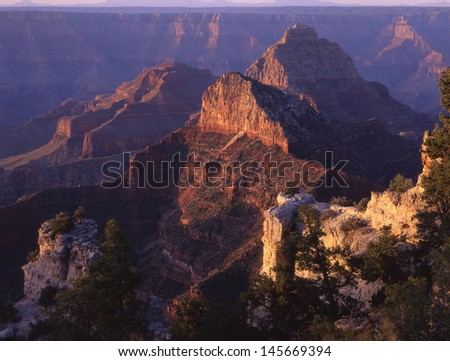 Grand canyon National Park, Arizona, Grand Canyon/ From the rim, both north and south, the canyon looks imposing, beautiful, spectacular and peaceful to most.