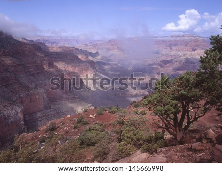 Grand Canyon National Park, Arizona interior/tonto basin/Few visitors get to see the interior of the Grand Canyon National Park because of the strain of getting there and the temperature change. - stock photo