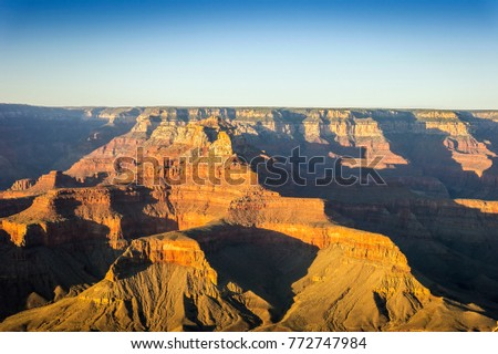 Grand Canyon National Park at sunset, Arizona, United States
