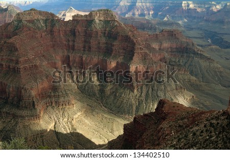 Grand Canyon National Park, AZ/Grandest of the Grand/Storms moving through and out of one of the Wonders of the World. - stock photo