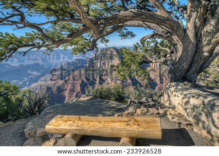 Grand Canyon National Park is the United States' 15th oldest national park. Named a UNESCO World Heritage Site in 1979, - stock photo