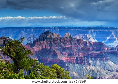 Grand Canyon North rim after a storm