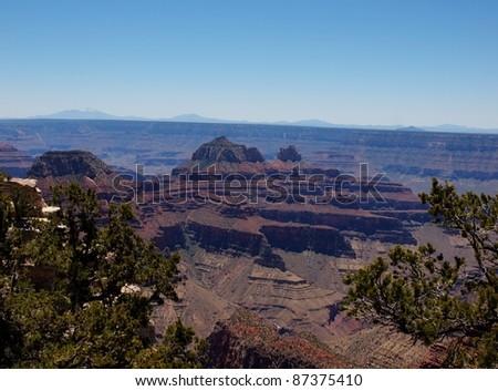 Grand Canyon North Rim Arizona - stock photo