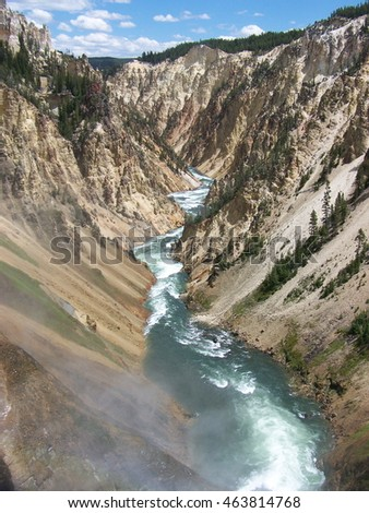 Grand Canyon of Yellowstone River in Yellowstone National Park