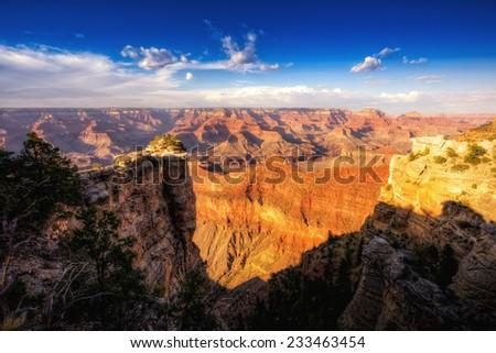 Grand Canyon Overlook, Grand Canyon National Park, Arizona - stock photo