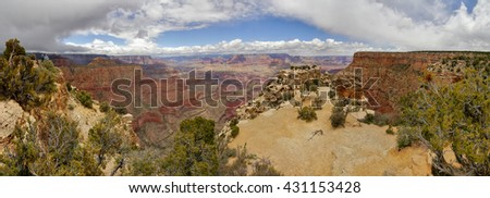 Grand Canyon panorama. Arizona, USA - stock photo