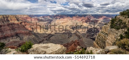 Grand Canyon panorama from the South rim, Arizona USA