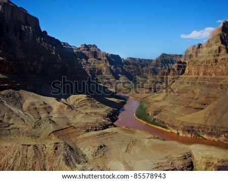 Grand Canyon River - stock photo