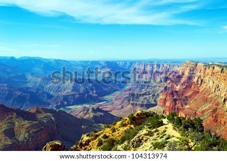 Grand Canyon, South rim. - stock photo