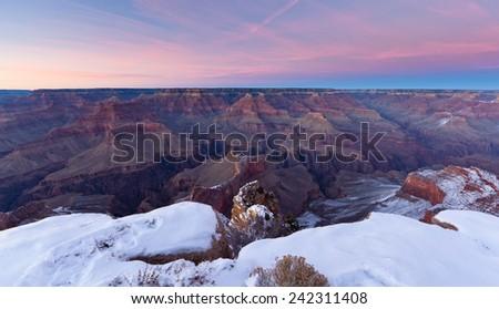 Grand Canyon Sunset - stock photo