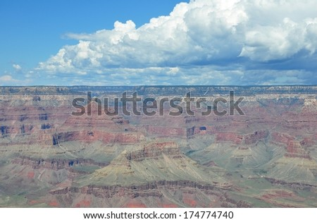 Grand Canyon with blue sky 6 - stock photo