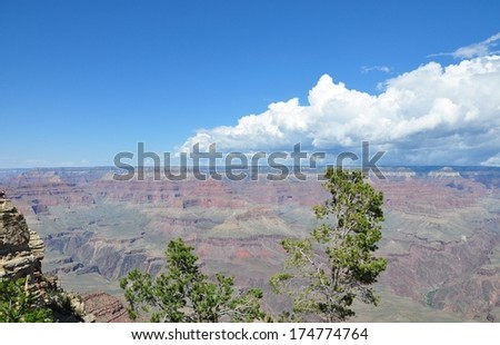 Grand Canyon with blue sky 8 - stock photo