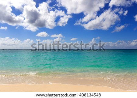 Grand Cayman, seven miles beach - stock photo