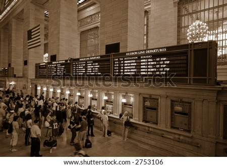 Grand Central Station - stock photo