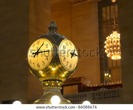 Grand Central Station Clock in New York City