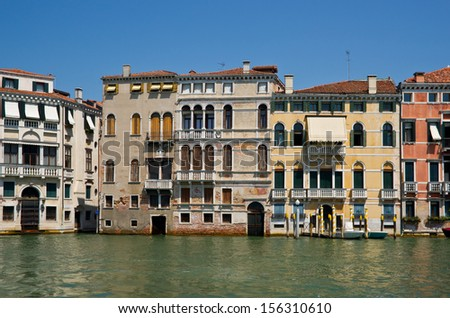 Grand channel palaces, Venice, Italy - stock photo