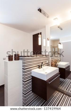 Grand design - decorative bathroom interior - stock photo