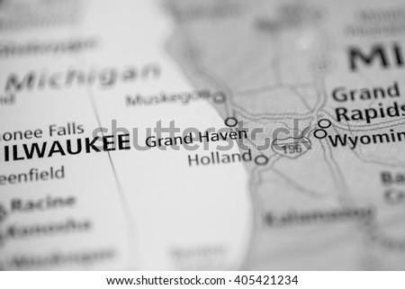 Grand Haven. Michigan. USA - stock photo