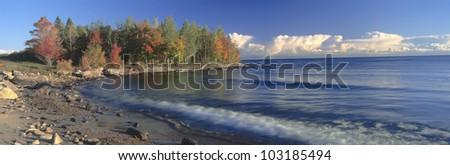 Grand Islands National Recreation Area, Lake Superior, Michigan - stock photo