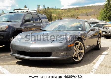 GRAND LAKE, COLORADO - AUGUST 13, 2016: Chevrolet Corvette - Sixth generation