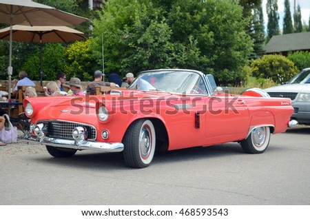 GRAND LAKE, COLORADO - AUGUST 13, 2016: Ford Thunderbird (First Generation)