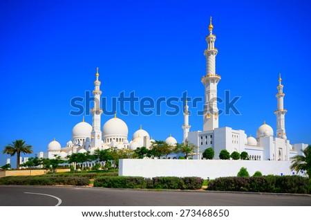 Grand Mosque Sheikh Zayed - stock photo