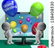 Grand Opening Balloons Shows New Online Store Launch - stock photo