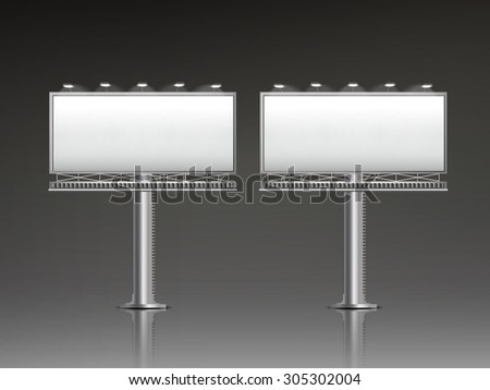 grand outdoor billboard isolated on black background - stock photo