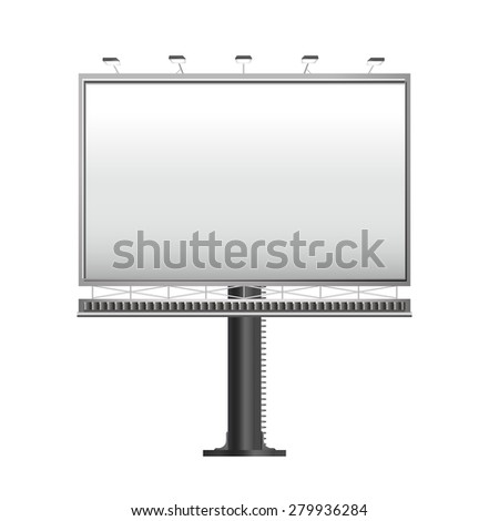 grand outdoor billboard isolated on white background - stock photo
