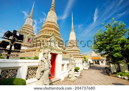 grand palace and Wat Phra Kaew area, Bangkok  - stock photo