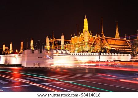 Grand palace at night - stock photo