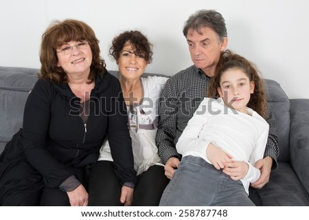 Grand parents, daughter and grand daughter