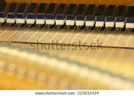 Grand piano strings  - stock photo