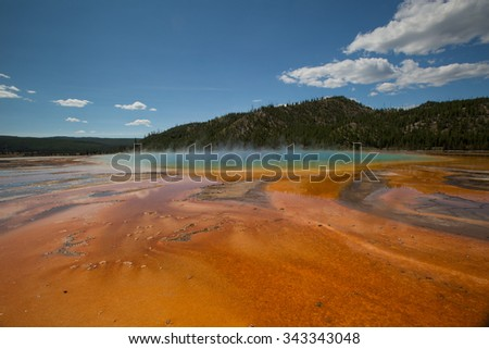 Grand Prismatic Spring, Midway Geyser Basin, Yellowstone National Park