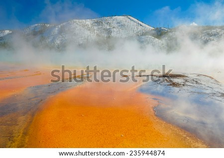 Grand Prismatic Spring, Yellowstone National Park (USA) - stock photo